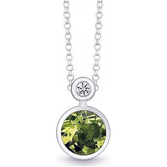 QUINN - Necklace - Silver - Diamond - Peridot - Wess. (H) - 27393947