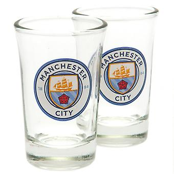 Manchester City FC Shot Set de verre (Pack de 2)