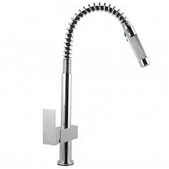 Kitchen Sink Pull Out Mixer Tap Faucet Brass Chrome