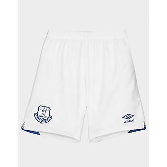 New Umbro Kids' Everton FC 2019/20 Home Shorts White