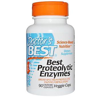 Proteolytische Enzyme (90 Enterisch beschichtete Veggie Caps) - Doctor's Best