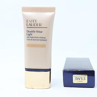 Estee Lauder Double Wear Light Soft Matte Hydra Makeup 1oz 3W1.5 Fawn New In Box