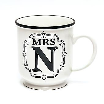 History & Heraldry Alphabet Mug- Mrs N