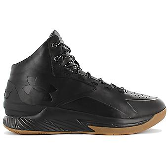 Under Armour Curry 1 Lux Mid LTH 1296616-001 Men's Basketball Shoes Black Sneakers Sports Shoes