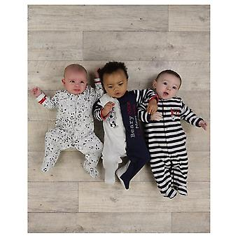 The Essential One Baby Boys Bailey Bear Nautical Sleepsuits - 3 Pack
