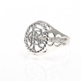 Rangers Silver Plated Crest Ring Large
