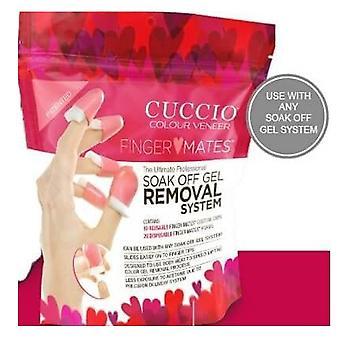 Cuccio Finger Mates Soak Off Gel Removal System - X10 Caps - X20 Foams Dispossable