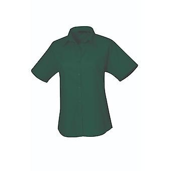 Premier short sleeve poplin blouse pr302 darker colours