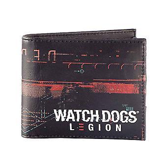 مشاهدة الكلاب محفظة الفيلق Glitch شعار جديد الرسمية Bifold الأسود