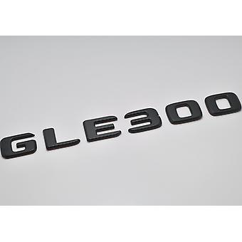 Matt Black GLE300 Flat Mercedes Benz Car Model Rear Boot Number Letter Sticker Decal Badge Emblem For GLE Class W166 C292 AMG