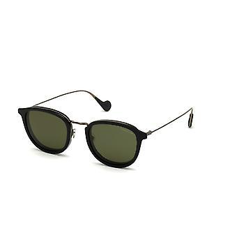 Lunettes de soleil Moncler ML 0126 01R Shiny Black/Green Polarised