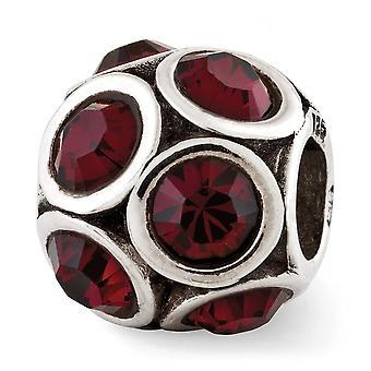 925 Sterling Silver Polerad finish Reflektioner Juni Crystal Bead Charm Hängande Halsband Smycken Gåvor för kvinnor