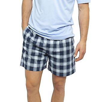 Cyberjammies 6452 Men's Billy Blue Check Cotton Woven Pyjama Short