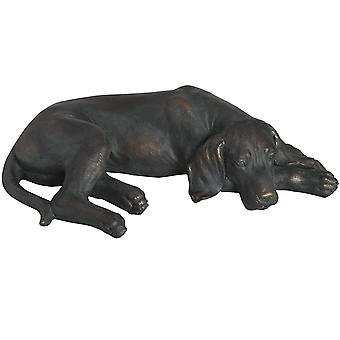 Hill Interiors Lazy Spaniel Lying Dog Statue