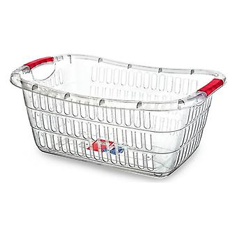 Confortime Transparent laundry basket (54 x 37 x 22 cm)