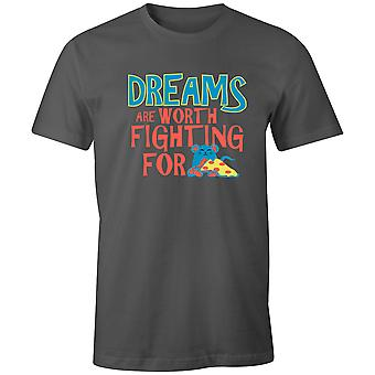 Boys Crew Neck Tee Short Sleeve Men's T Shirt- Dreams Are Worth Fighting For