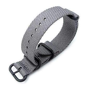 Strapcode n.a.t.o orologio cinghia miltat 22mm g10 militare waffle zulu cinghia orologio, bracciale in nylon, pvd - grigio militare