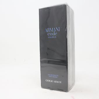 Armani Code Colonia by Giorgio Armani Eau De Toilette Pour Homme 6.7oz New