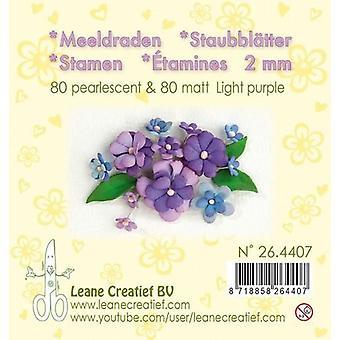 LeCrea - Stamen 2mm,  ±80 matt & 80 pearl Light Purple 26.4407