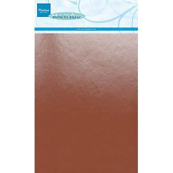 Marianne Design Dekoration Metallic Papier 5sh - Kupfer CA3138 A5