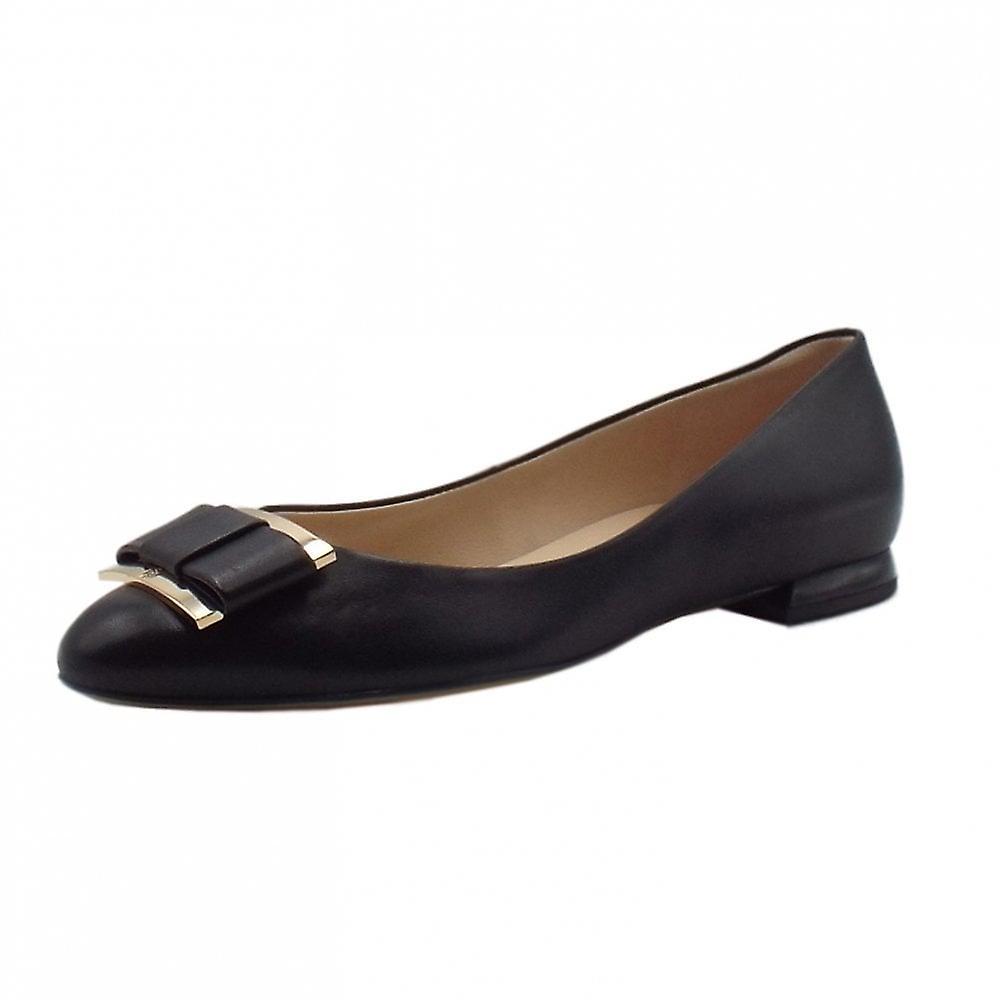 Högl 9-10 1080 Harmony Smart Leather Ballerina Pumps In Black ZuvAP