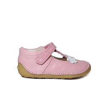 Clarks Tiny Sun Toddler Pink Leather Girls Pre Walker Shoes