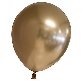 Sassier Ballons Latex Chrom | Spiegel | Reflex Gold - 24er Pack
