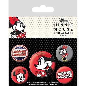 Minnie Mouse Pin Buton Rozetleri Seti