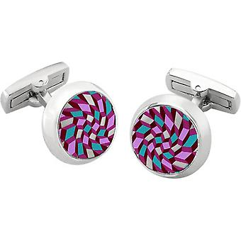 Duncan Walton Feldspar Luxury Enamel Cufflinks - Purple