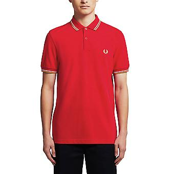 Fred Perry Men & apos; s Twin Tipped Polo T- Shirt Regular Fit