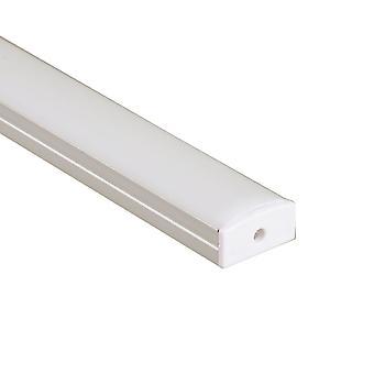 Jandei Profilo Alluminio Striscia LED 2 Metri Superficie 23.3 : 9.7mm con coperchio