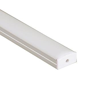 Jandei Profil AluminiumStreifen LED 2 Meter Oberfläche 23,3 * 9,7 mm mit Deckel
