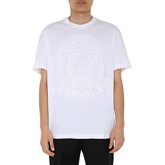 Versace A85172a2228806a1001 Men's White Cotton T-shirt
