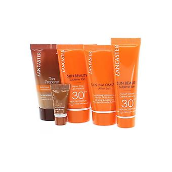 Lancaster Sun Beauty Golden Tan Travel Set- Pre Tan 50ml Velvet Cream SPF30,Milk SPF30,Maxmimiser