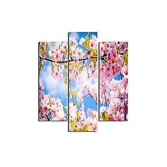 Bunte Veronika Malerei in MDF, L19xP0.3xA50 cm (2 Stück), L19xP0.3xA60 cm (1 Stück)