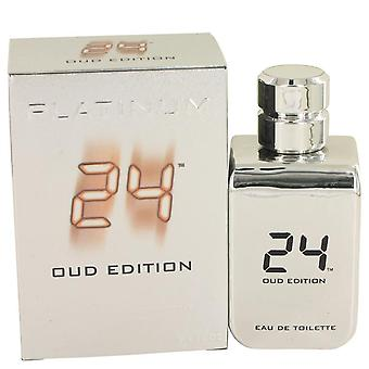 24 Platinum Oud Edition Eau De Toilette Concentree Spray (Unisex) By ScentStory 3.4 oz Eau De Toilette Concentree Spray