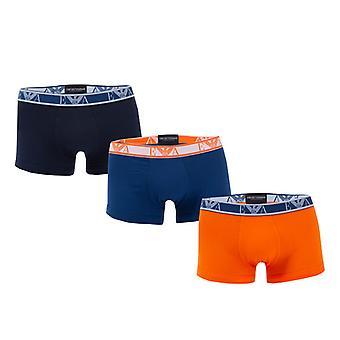 Men's Armani 3 Pack Boxer in Orange