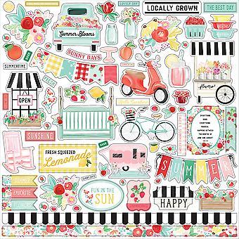Carta Bella Summer Market 12x12 Inch Element Sticker