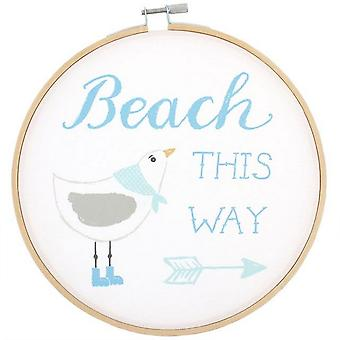 Something Different Beach This Way Decorative Hoop