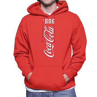Coca Cola Vertical 1886 Men's Hooded Sweatshirt
