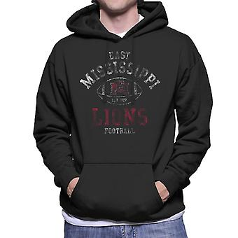 East Mississippi Community College Light Football Lions Men's Hooded Sweatshirt