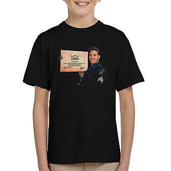 Elvis Presley US Army Certificate Kid's T-Shirt