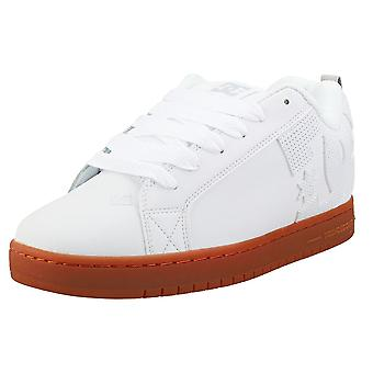 DC Shoes Court Graffik Mens Skate Trainers in White