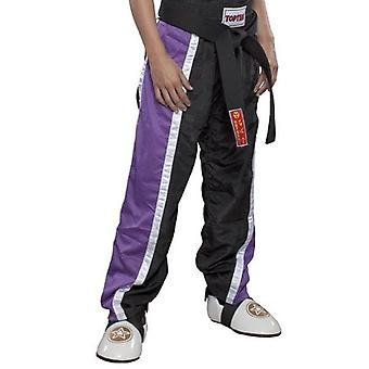 Top Ten Kids Mesh Kickboxing Pantalon noir / violet