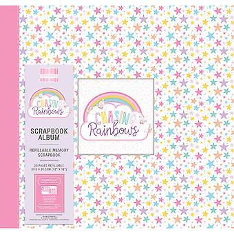 Primera edición Persiguiendo Arco Iris 12x12 Pulgadas Album Estrellas