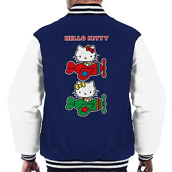 Hello Kitty e Mimmy Flying Men's Varsity Jacket