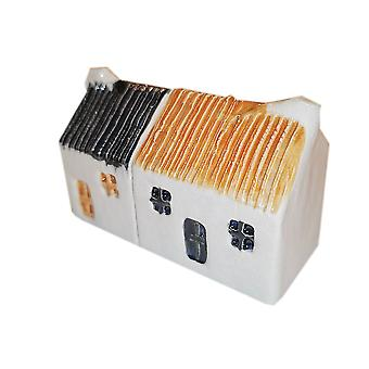 Wee Semi-detached Bothies Tin-roofed Black & Toffee by Glenshee Pottery