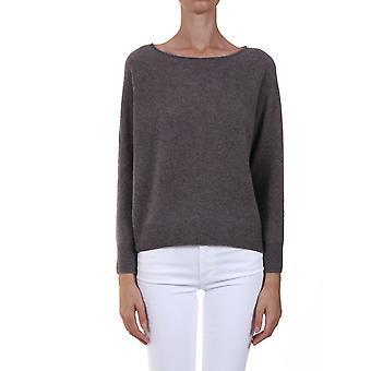 360 Cashmere 42254porc Women's Grey Cashmere Sweater