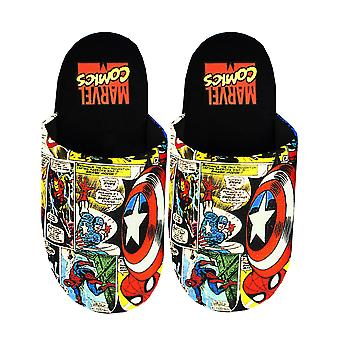 Marvel Avengers Slippers Comic Men's Polyester House Shoes