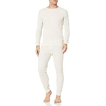 Essentials Men's Thermal Long Underwear Set, Natural, Large